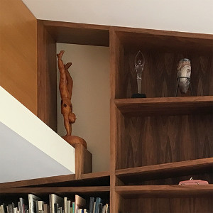 Walnut bookshelf