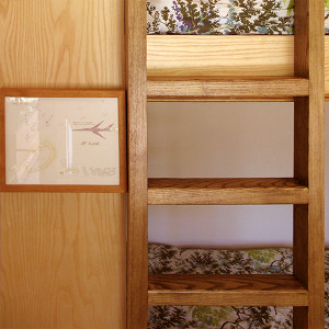 Solid Oak ladder to upper bunk