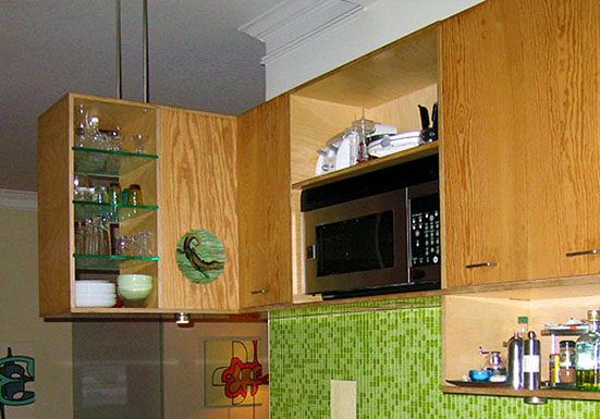 Marine Ply For Kitchen Cabinets : ... cabinet bodies with custom fronts of oiled marine plywood. The shelves